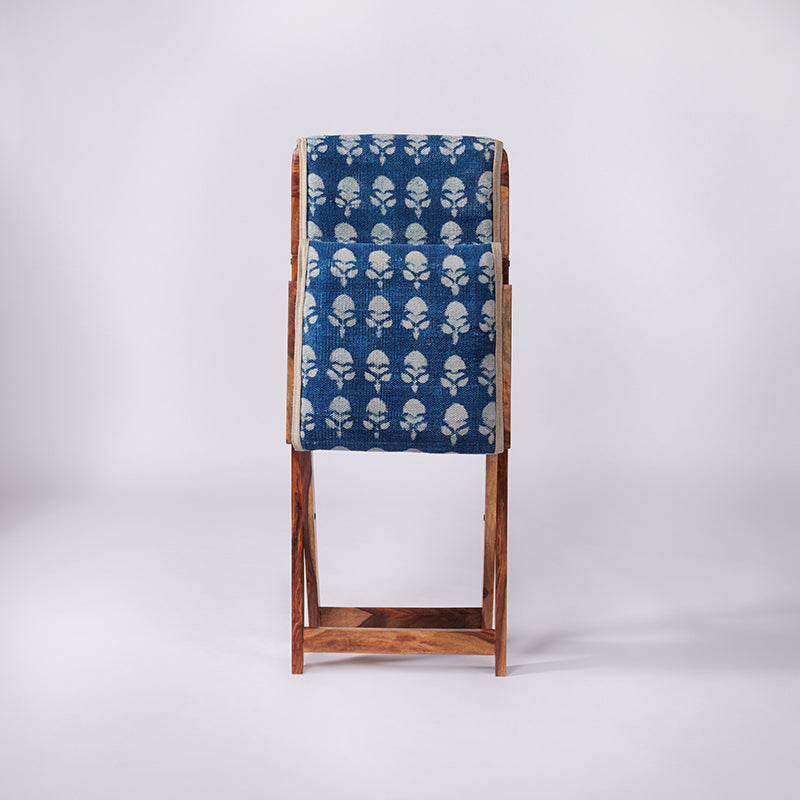 Floral Patterned Dhurrie Folding Chair - Sihasn