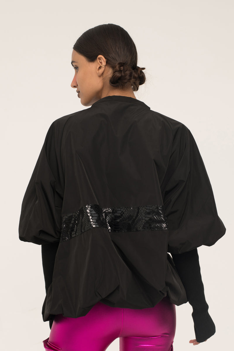 Makeup Half-Zip Parachute Jacket