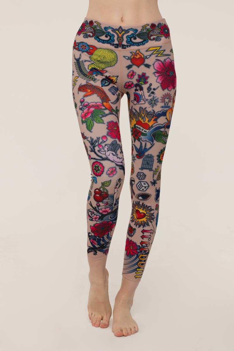 Tattoo Burst Leggings