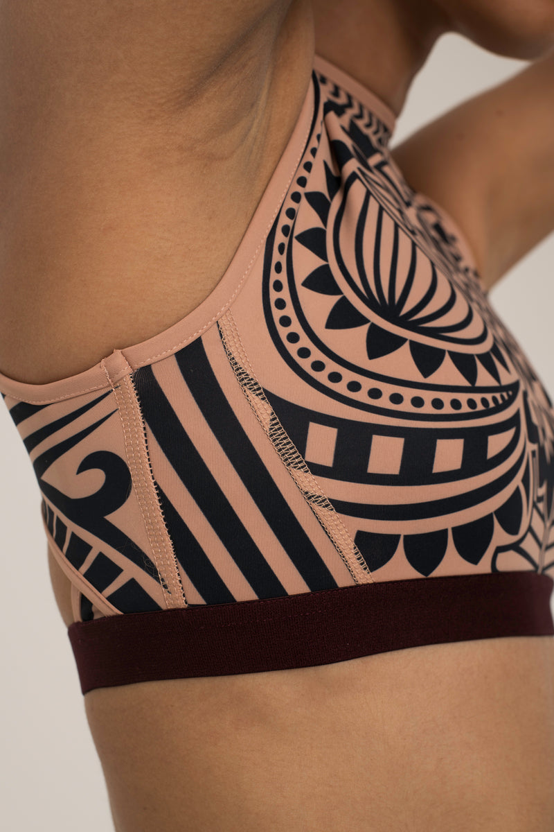 Totemic Tattoo Open Back Bra