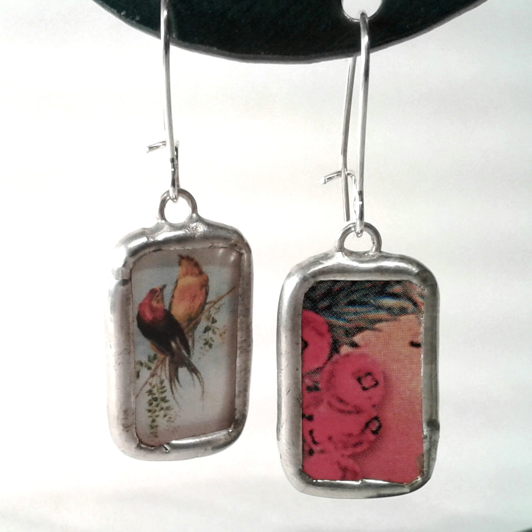 French Birds Earrings
