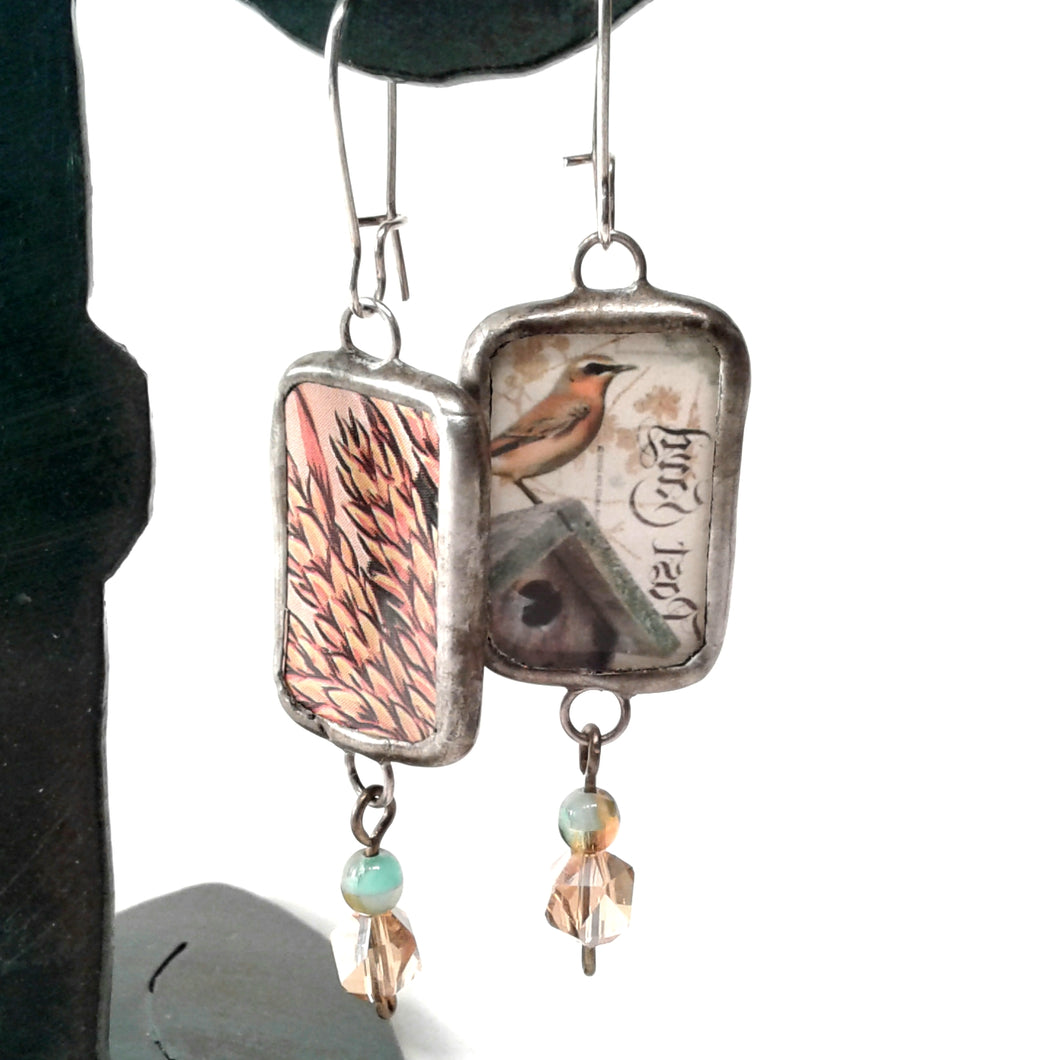 Tuscan Bird Earrings
