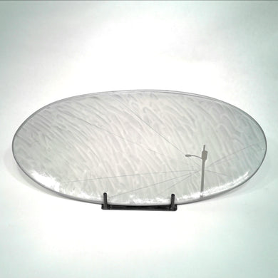 Platter, lg oval footed