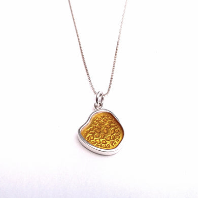 Osteon Drop Pendant, small yellow