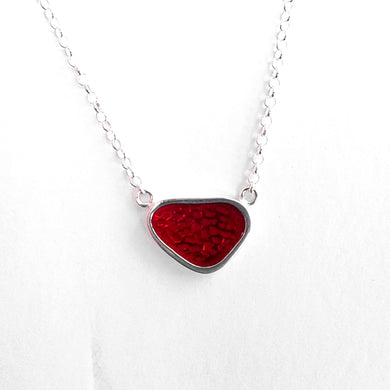 Osteon Pendant, small red