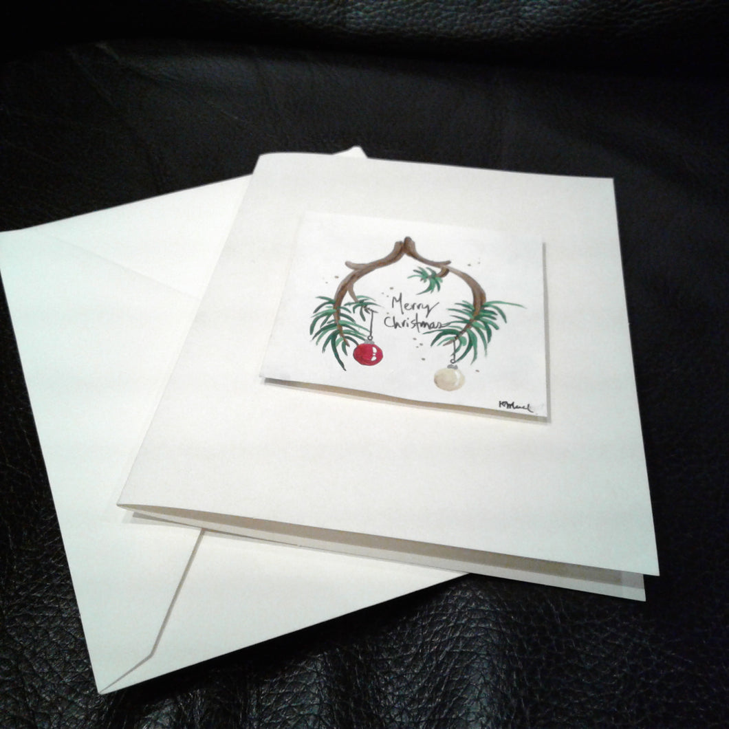 Merry Christmas Branch Art Card