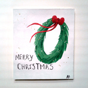 Merry Christmas Wreath Card