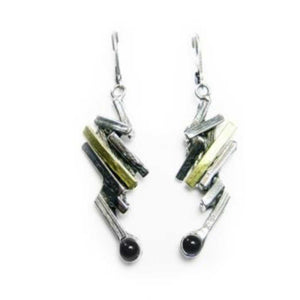 Pewter Earrings with stone