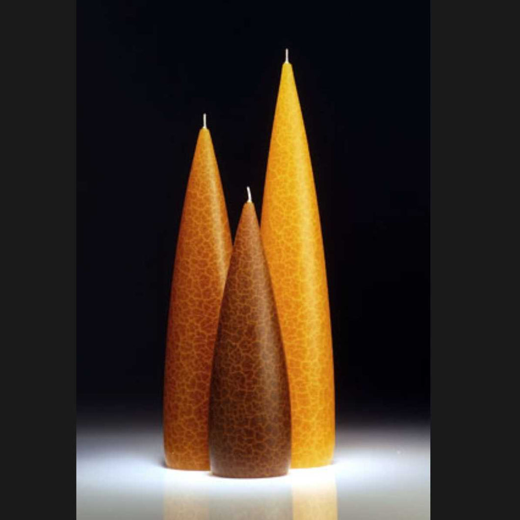 Candle, slim Amber