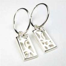 Rectangular Artery Earrings