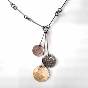 Hammered 3-disc Necklace