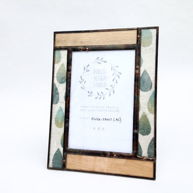 Photo Frame, 4x6 Veneer/Block Print