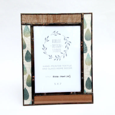 Photo Frame, 5x7 Veneer/Block Print