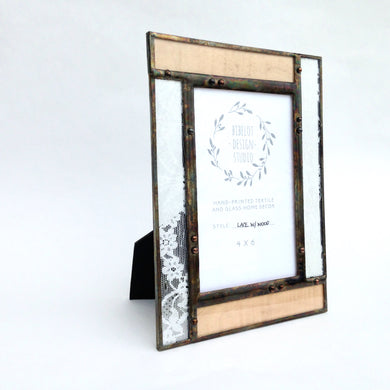 Photo Frame, 4x6 Lace/Veneer