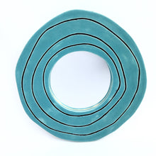 Modern Rose Wall Mirror, teal