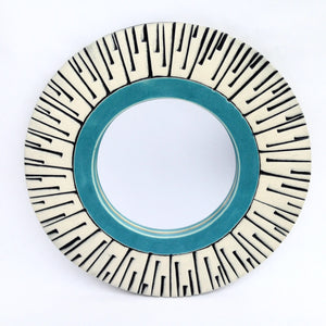 Texture Wall Mirror, teal