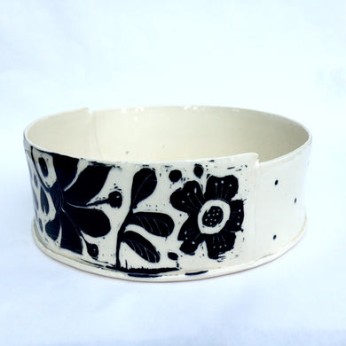 Bowl, XL black & white