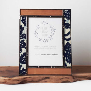 Photo Frame, 4x6 Vintage Indigo w/wood