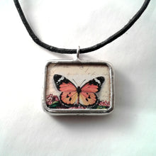 Monarch Butterfly reversible Pendant
