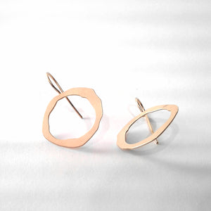 Thin Rough Cut Fixed Earwire Earrings