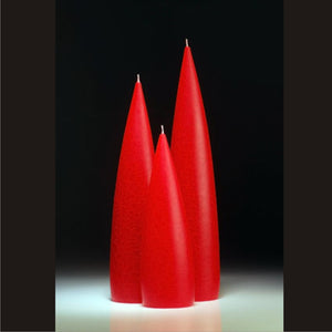 Candle, slim Red