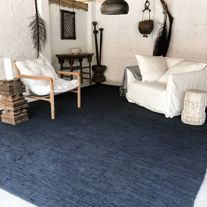 75% OFF! Asha Oversized Cotton Rug 300 x 400 cm Charcoal