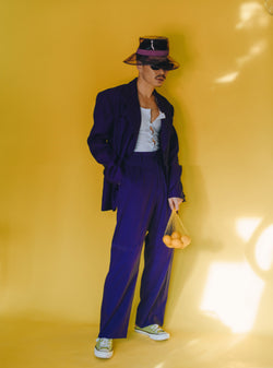 Purple/Lavender oversized suit set / blazer with shoulder pad