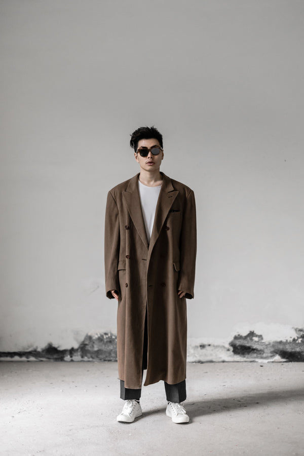 Drametically Long Cashmere Coat - Vintage