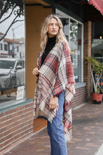 Load image into Gallery viewer, Tartan Plaid Poncho