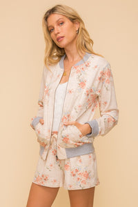 The Floral Bomber Jacket Set