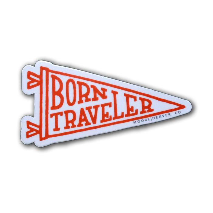 Born Traveler Sticker