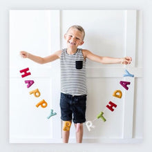 Load image into Gallery viewer, Felted Wool Happy Birthday Banner