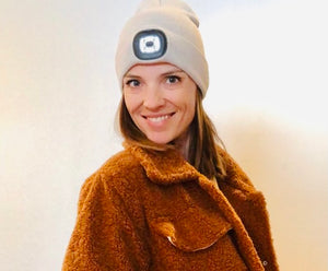 Women's Rechargeable LED Beanie