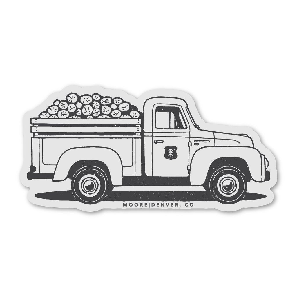 Lumber Truck Sticker