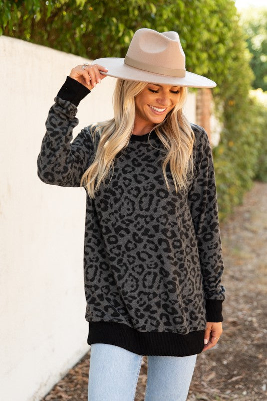 The Zoe Animal Print Knit Top