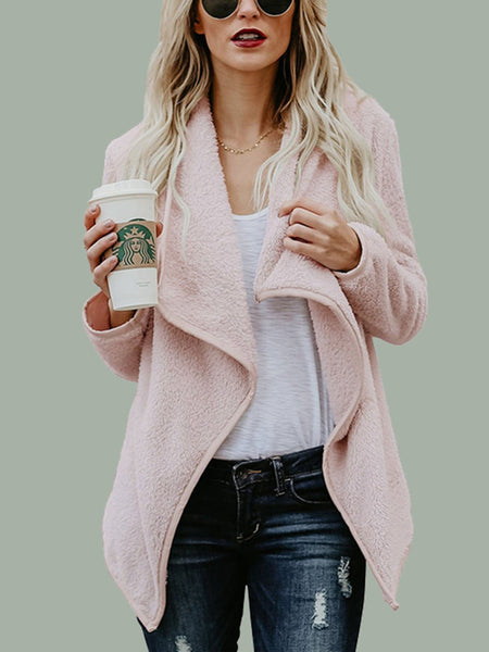 Casual Wool Blend Long Sleeve Coat