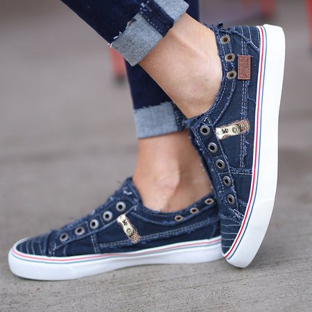 Copy of Women Zipper Daily Canvas Slip-on Athletic Loafers