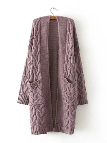 Casual Polyester Quilted Long Sleeve Coat