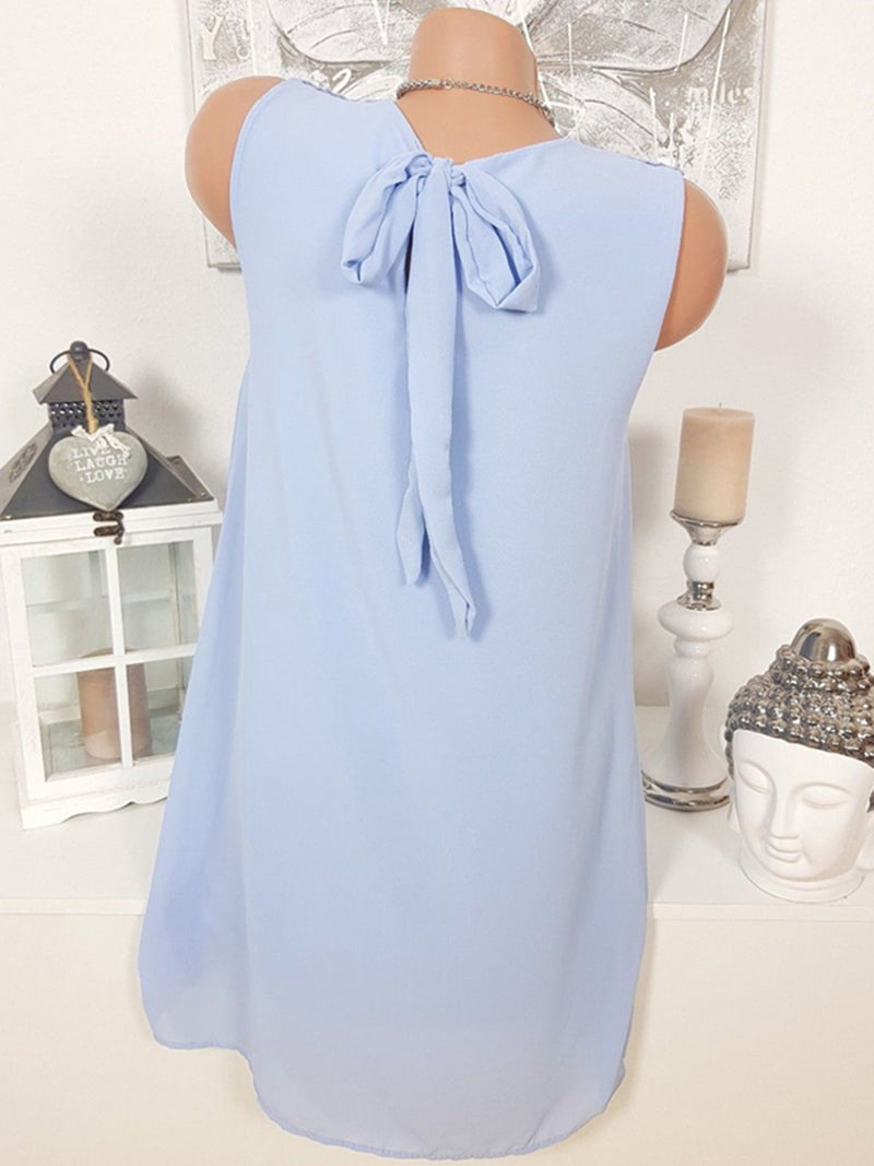 Women Casual Paneled Sleeveless Chiffon Solid Shirts