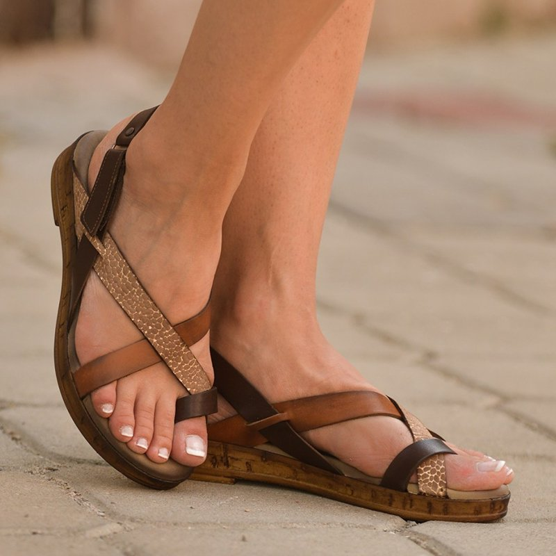 Women Casual Summer Strappy Toe Ring Slingback Sandal Shoes
