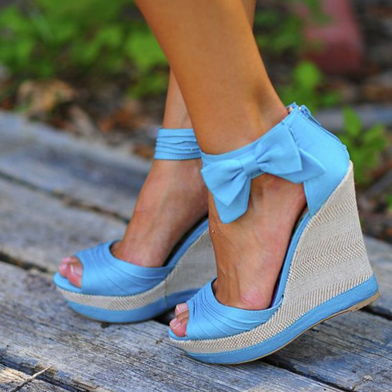 Summer Casual Daily Rubber Wedge Sandals