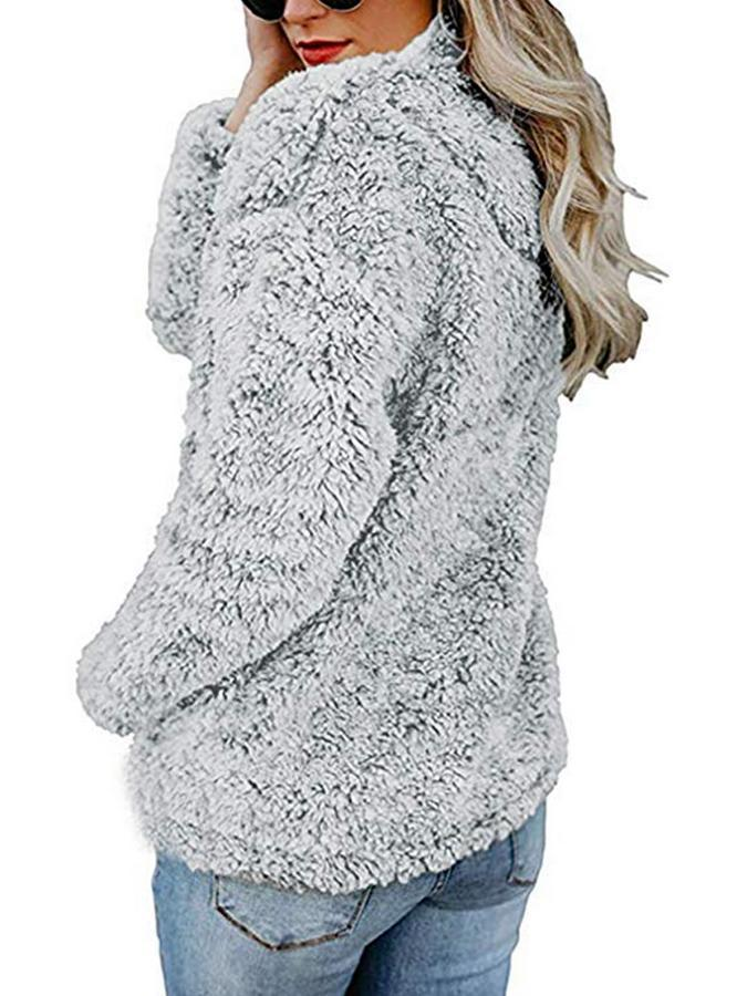 Casual Long Sleeve Fleece Pullover Hoodie