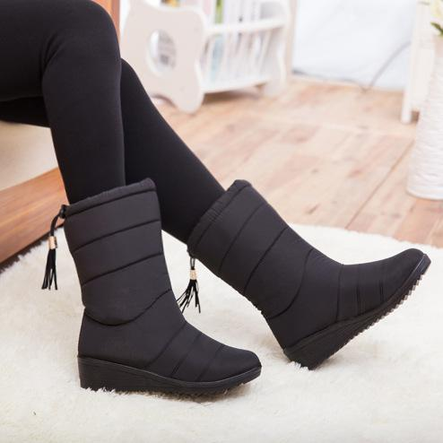 Casual Ankle Waterproof Warm Snow Wedges Boots