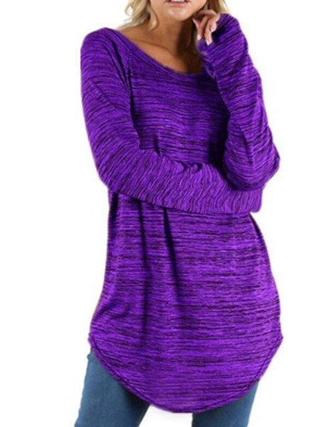 Casual Square Neck Long Sleeve Top