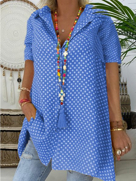 Casual Short Polka Dots T-shirt