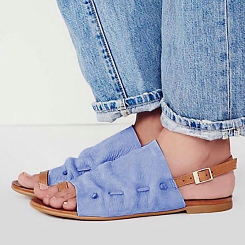 Adjustable Buckle Flat Heel Beach Sandals