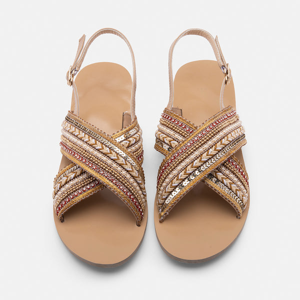 Women Boho Sandals Casual Elastic Band Shoes