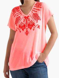 Boho V Neck Short Sleeve Shirts T-shirts