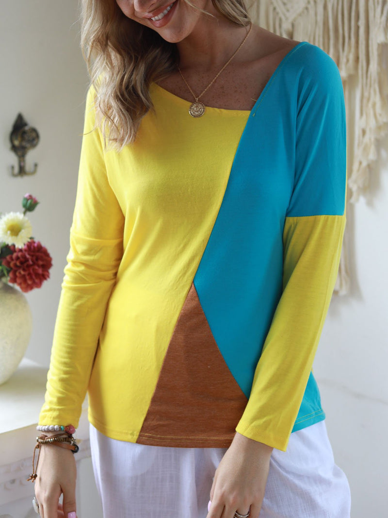 Vintage Long Sleeve Paneled T-Shirts