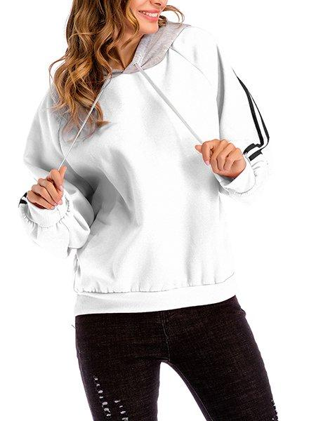 Casual Square Neck Long Sleeve Tops